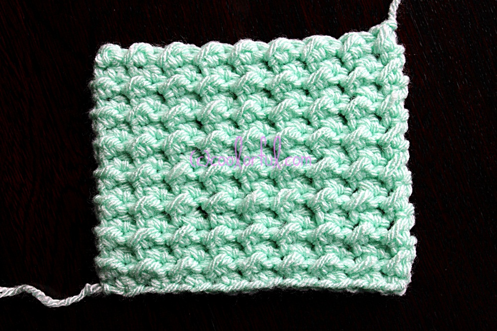 Crochet Stitch Guide : How to crochet the Moss Stitch, written instructions