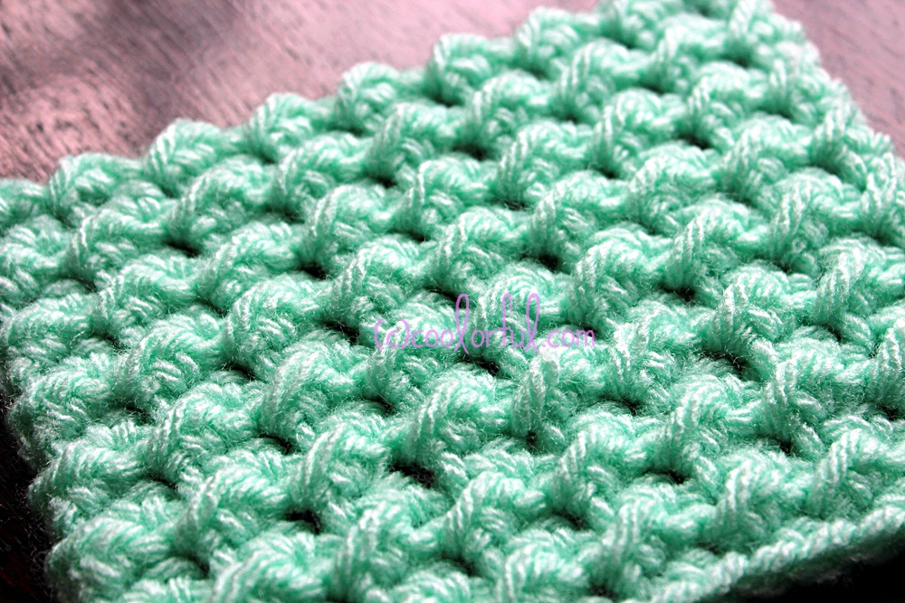 How to crochet the Moss Stitch, written instructions