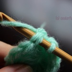 Slip stitch to end a round crochet circle