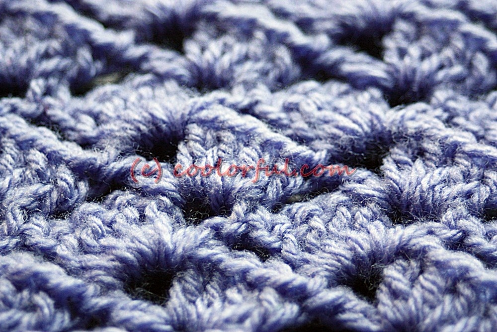 Crochet Stitches Written Instructions : How to crochet The Tulip Stitch, written instructions