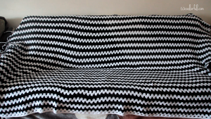 Crochet contrasting Colors Granny on the Straight Blanket
