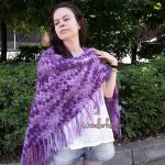 How to crochet a shawl in a triangle