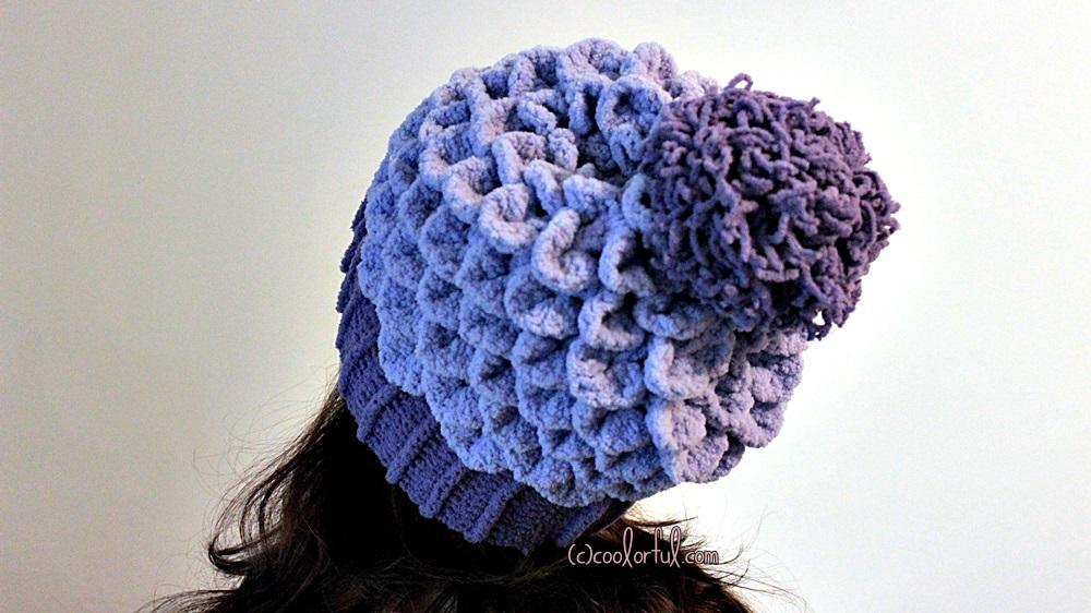 How to crochet a Crocodile Stitch Beret