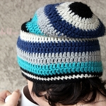 How to crochet an urban slouchy beanie, written instructions