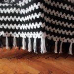 Crochet contrasting Granny on the Straight Blanket